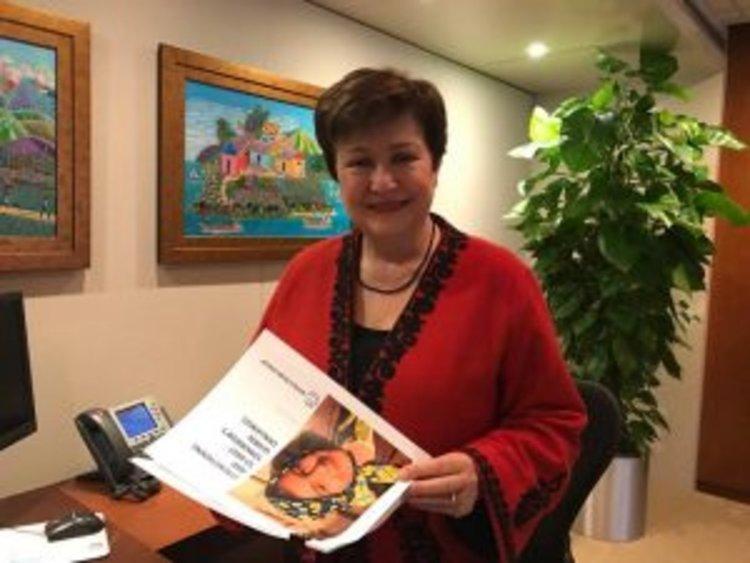 Кристалина Георгиева вече е на работа в Световната банка
