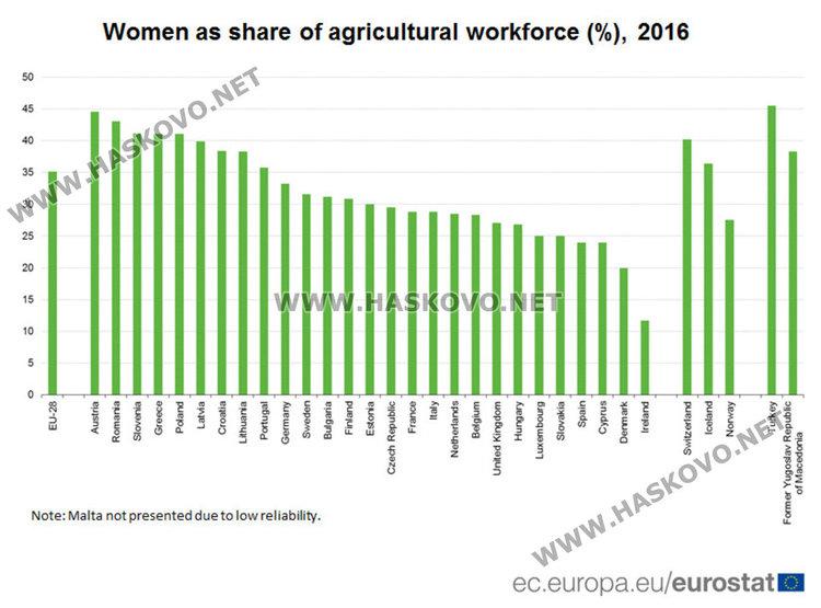 Над 30 % от земеделските стопани у нас са жени