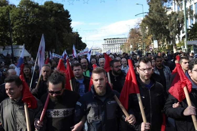 Стачки блокират Гърция