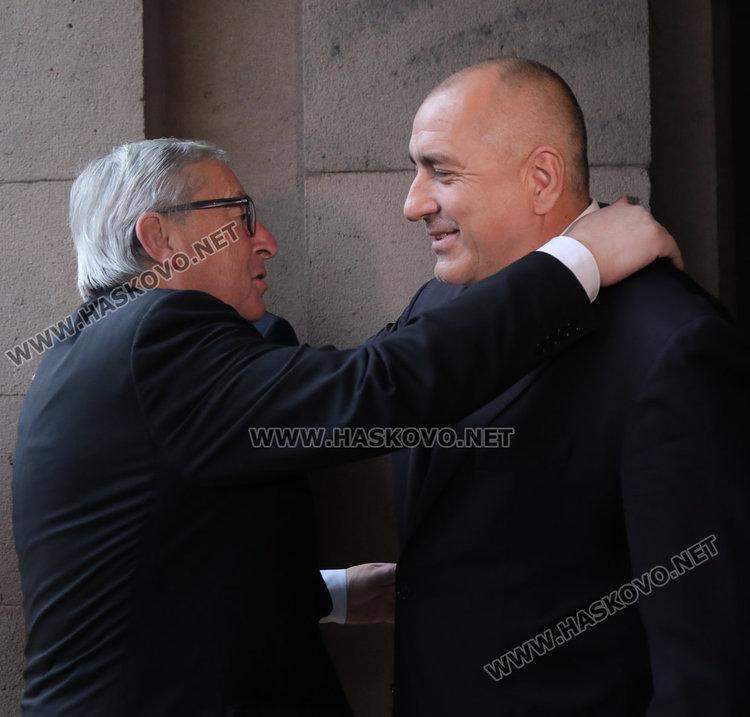 Премиерът Бойко Борисов се срещна с председателя на ЕК Жан-Клод Юнкер