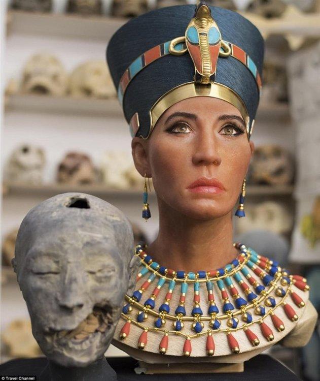 """3D реконструкция на лицето на Нефертити стана """"конспирацията Нефертити"""" (видео)"""