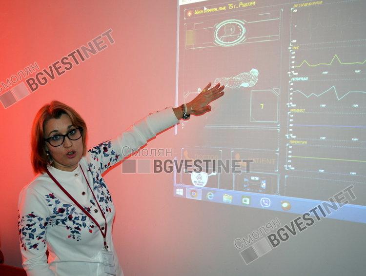 Балева показва как се следят 24 часа онлайн показателите на болните със сърдечни проблеми