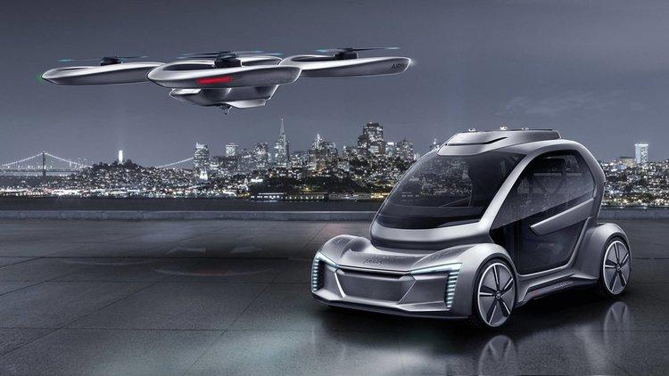 Audi и Airbus показаха летящия си автомобил