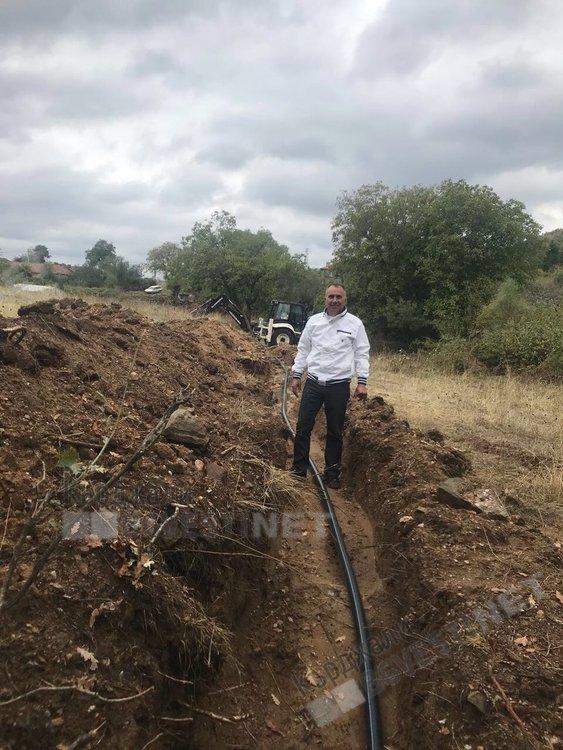 На инспекция  на подновения водопровод за Мишевско