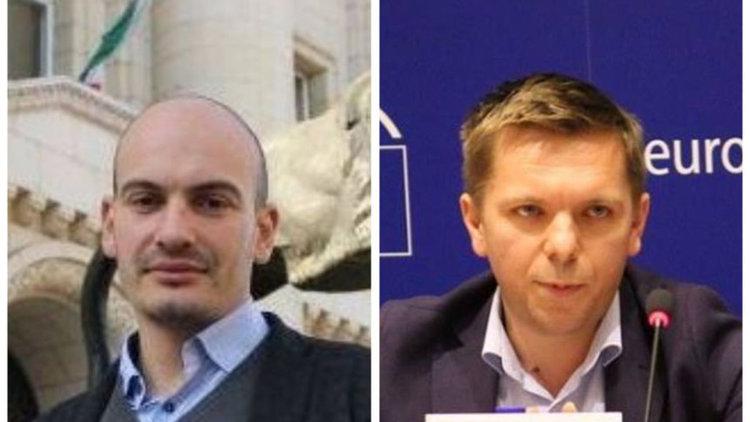 Протест срещу действията на българската полиция и ареста на разследващите журналисти