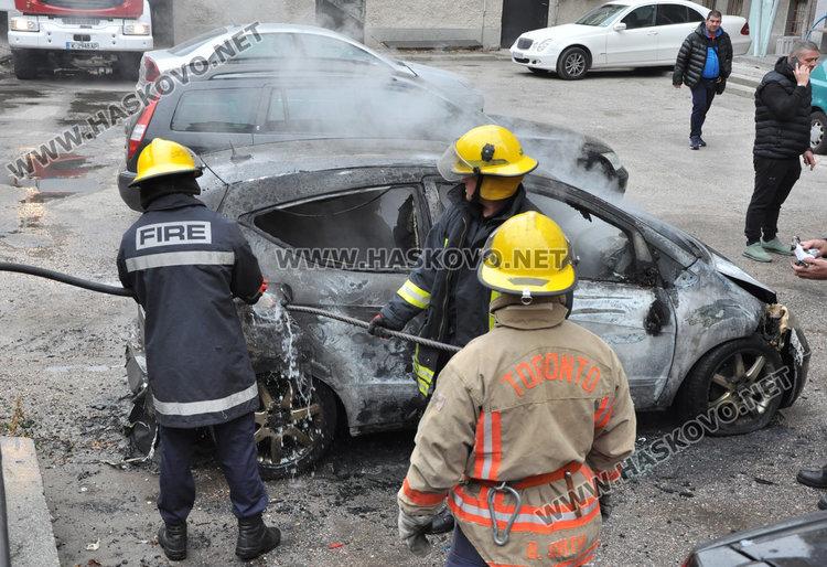 Изгоря Мерцедесът на хасковски бизнесмен