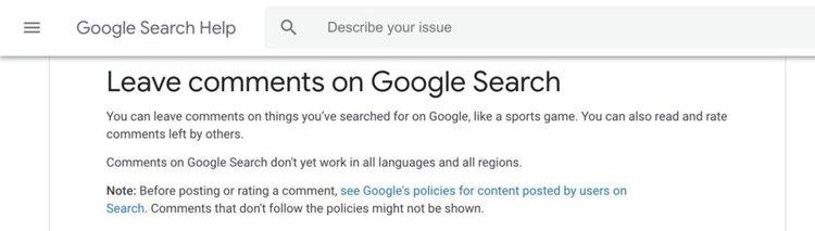 Google вгражда възможност за коментари и отзиви в търсачката