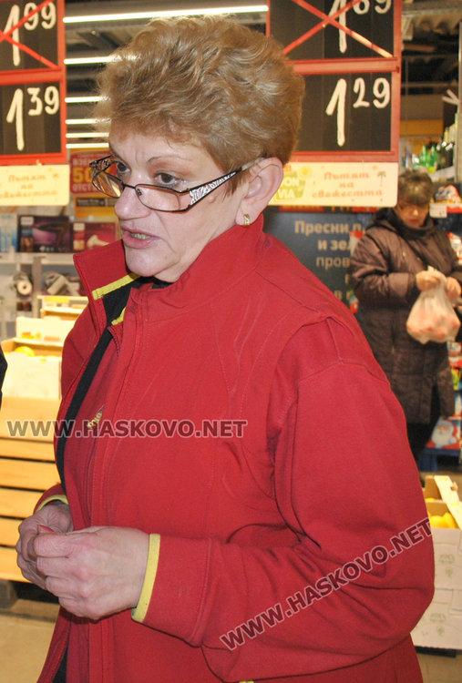 Заместник-управителят на БИЛЛА в Хасково Росица Георгиева