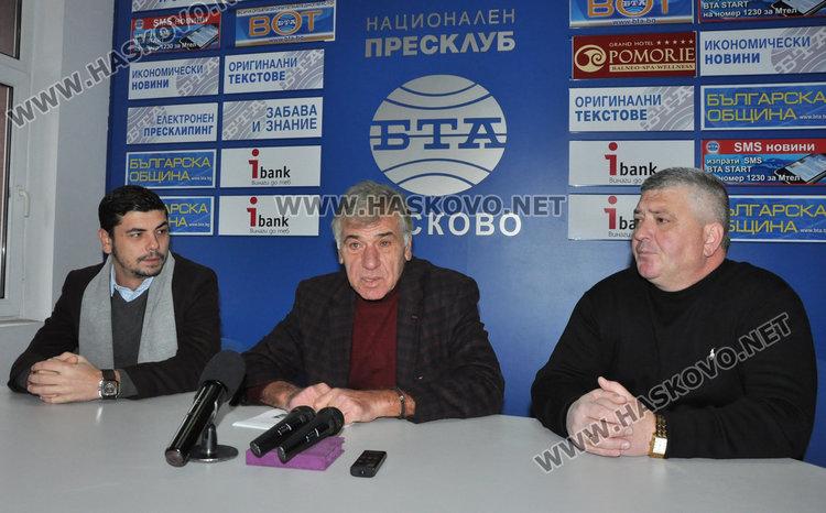 Димо Стоянов (в средата), Райно Стоянов (вляво) и Любомир Михов