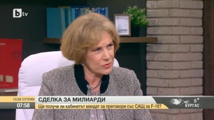 Елена Поптодорова: Има връзка между затворническия сюжет с Банев и придобиването на изтребител