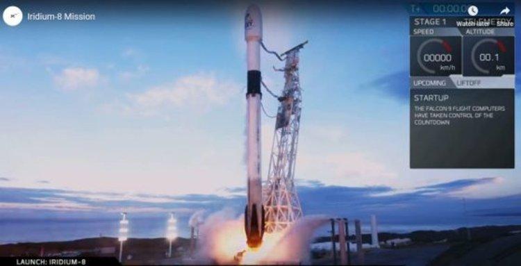SpaceX стартира първата си мисия на годината и последната за клиента Iridium