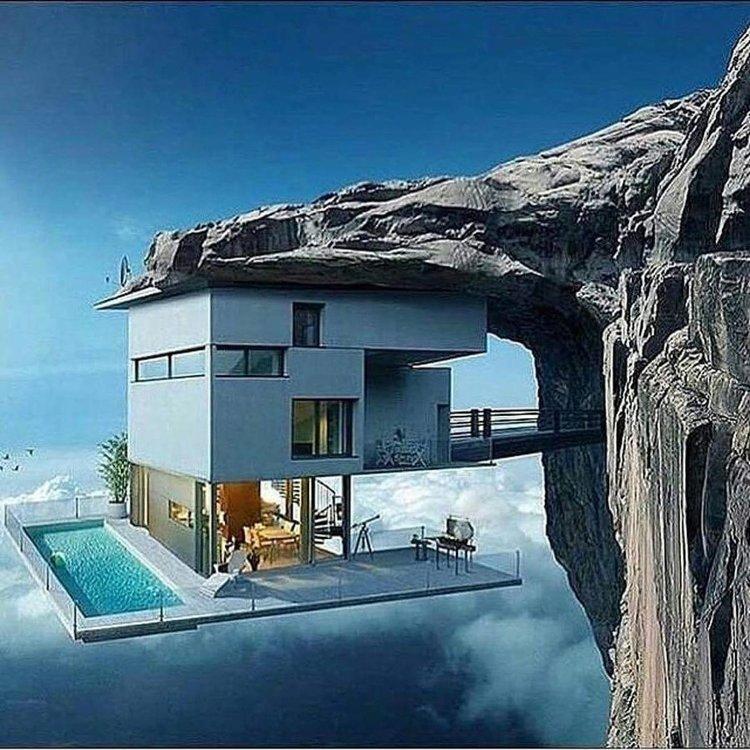 Немислима къща под скалата