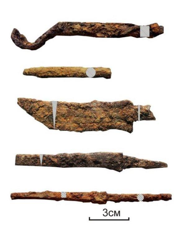 Бижутерийни инструменти и продукти от кехлибар, намерени в работилницата Сн.:Институт археологии РАН