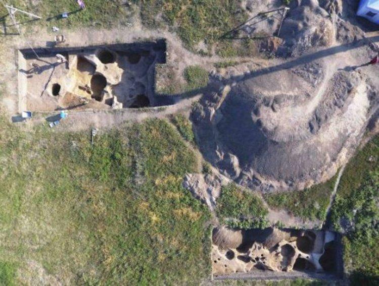 Участъкът на разкопките. Сн.:Институт археологии РАН