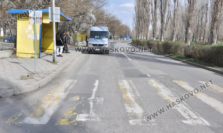 Хасковлия: Пешеходна пътека води в храстите. Започва обновяване на маркировката