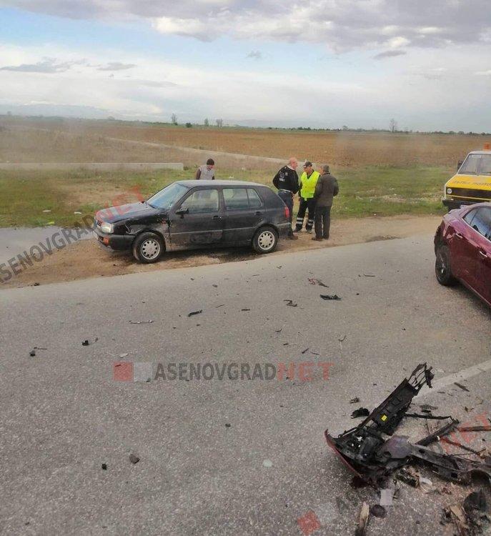 2 коли и камион се сблъскаха на пътя между Пловдив и Пазарджик