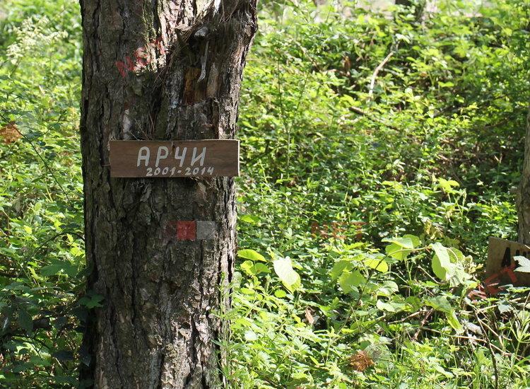 """гробове на животни в парк """"Пеньо Пенев"""""""