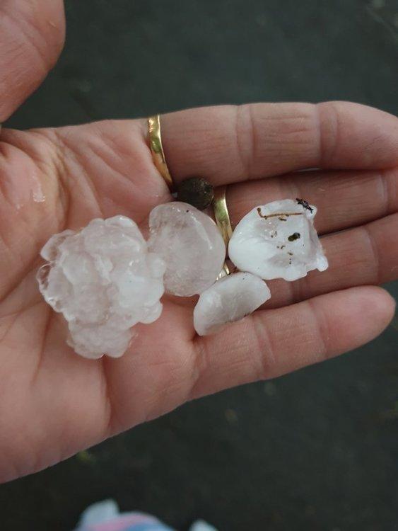 Бурята и градушката след Нова Загора са ударили гр. СливенСнимка: Mimi Dahele