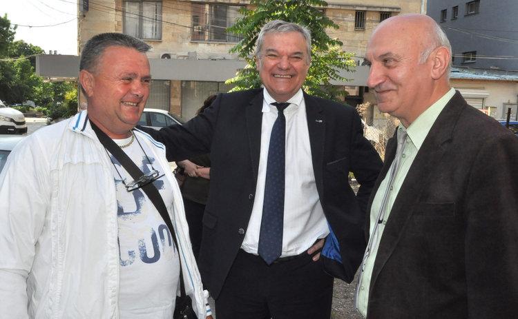 Румен Петков (в средата), Иван Педев (вдясно)