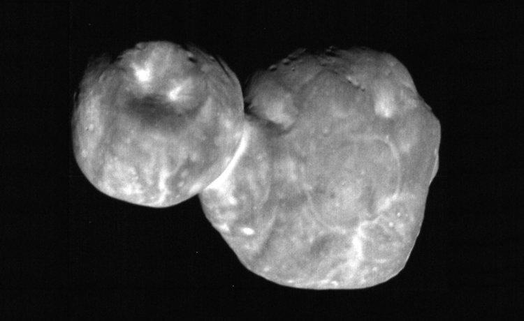 Ултима Туле - MU69, изображение, заснето от LORRI на New Horizons на 1 January 2019