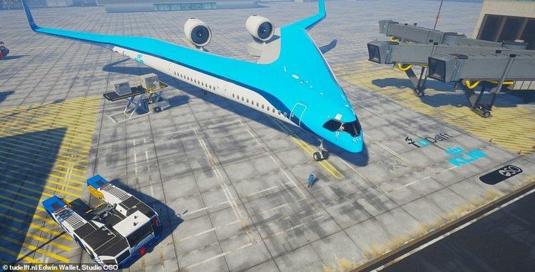 Flying-V лети с 20% по-малко гориво и побира над 300 пътници ... в крилата