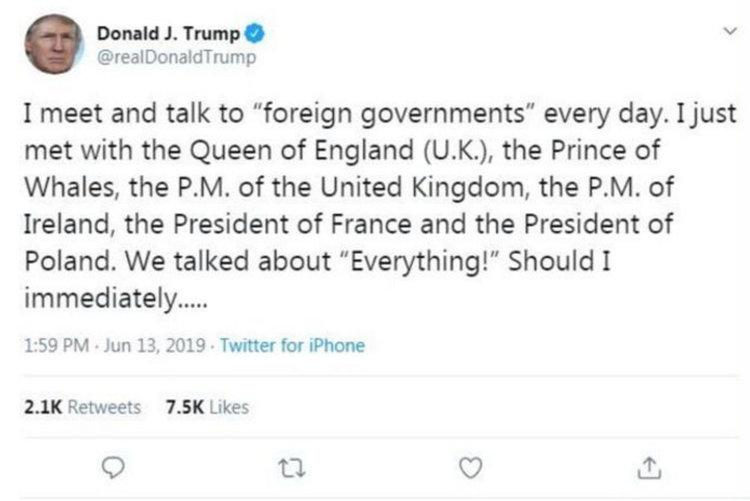 Тръмп се срещнал с принца на китовете, светът във възторг