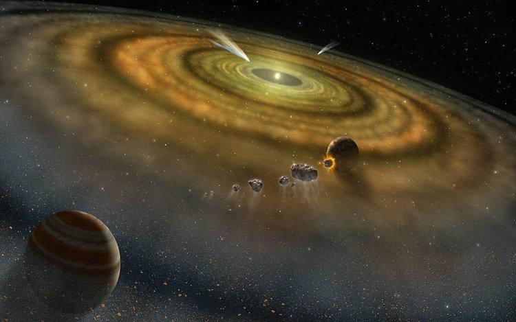 Протопланетен диск. Илюстрация: NASA/GPL