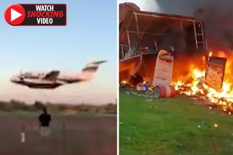 Мъж опита да убие жена си със откраднат самолет