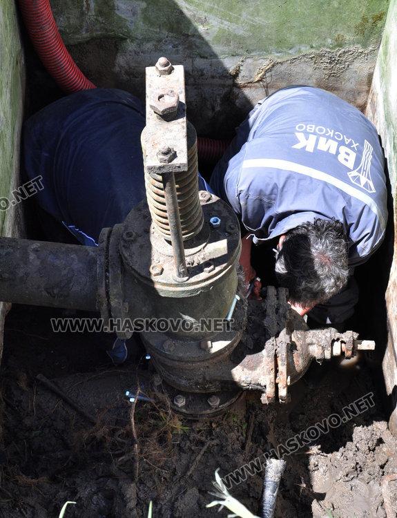 Част от Хасково без вода в четвъртък заради подмяна на водопровод