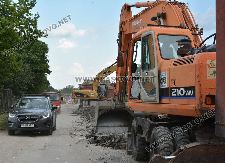 Частично затвориха околовръстното на Хасково за довършителен ремонт