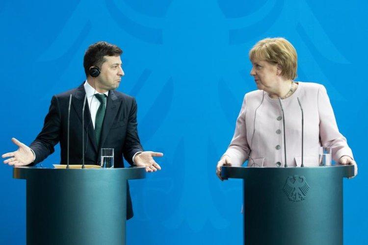 Зеленски при Меркел за руския газ