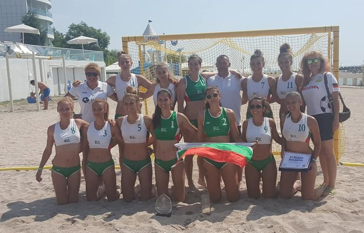 Националният отбор на България с бронз от Международен турнир по плажен хандбал