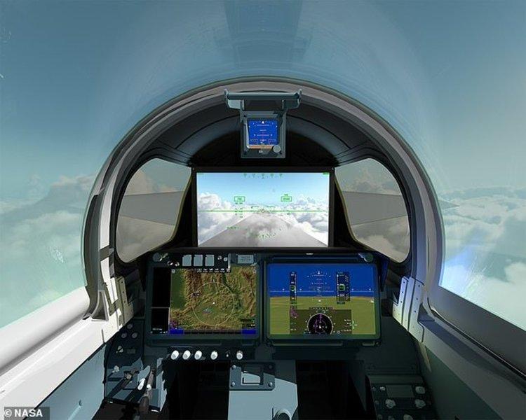 НАСА разработва свръхзвуков самолет без предно стъкло