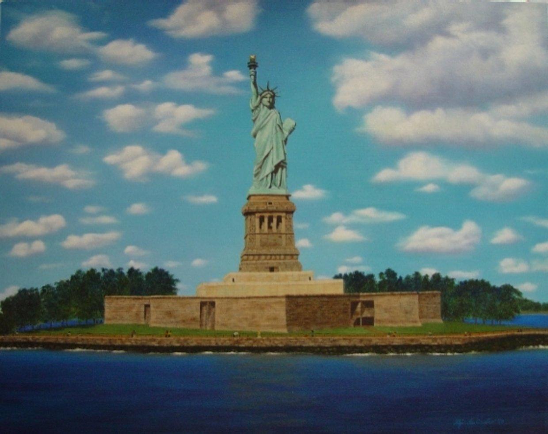 Резултат с изображение за Гроувър Кливланд официално открива Статуята на Свободата