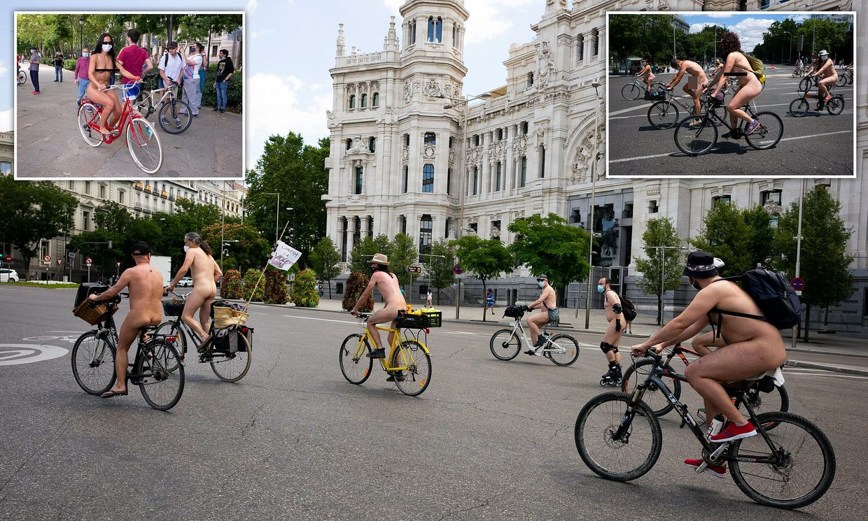 Cyclists Get Nude For Safety's Sake The Echo