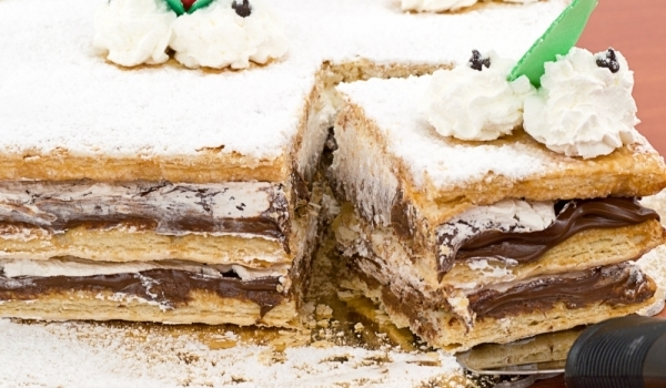 Ретро бисквитена торта
