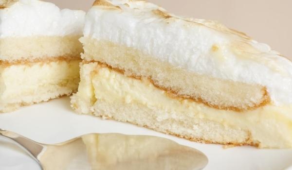 Лесна торта с белтъчен крем