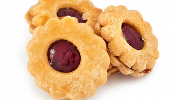 Грузински бисквити с боровинково сладко