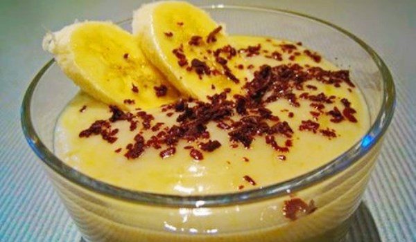 Бананов крем с бисквити