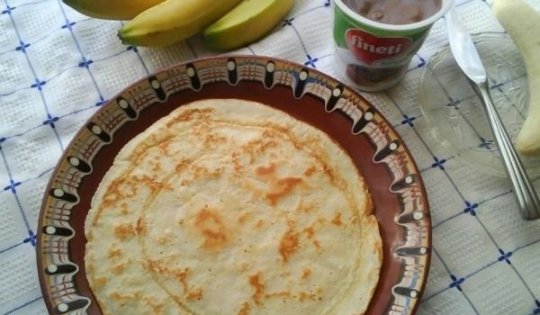 Палачинки с банан и шоколад