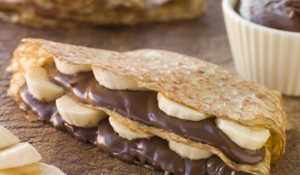 Палачинки с шоколад и банани