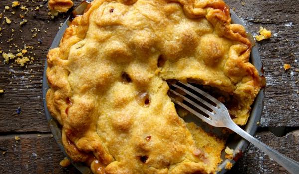 Тарт Татен с ябълки, круши и бутер тесто