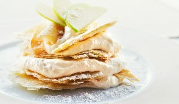 Лесен десерт с крем