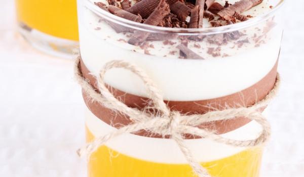 Десерт от маскарпоне и портокалово желе
