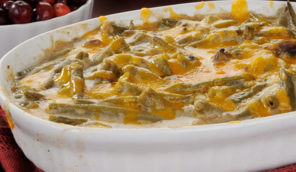 Зелен фасул с моцарела и пармезан