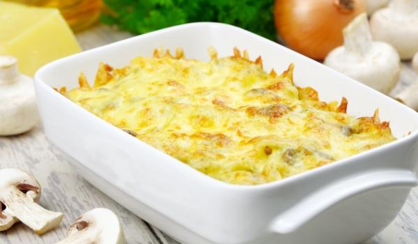 Картофена запеканка с гъби