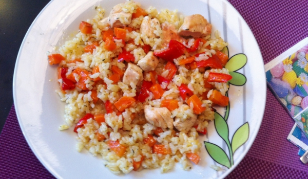 Ориз с пилешко и чушки