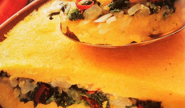 Качамак със зеленчуци на фурна