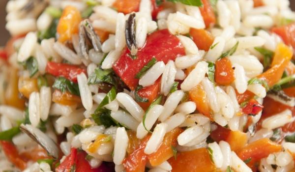 Праз с маслини и ориз на фурна