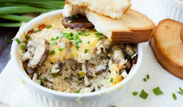 Запеканка с гъби и ориз